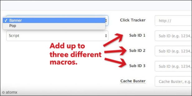 How to add macros to a publisher's banner tag.