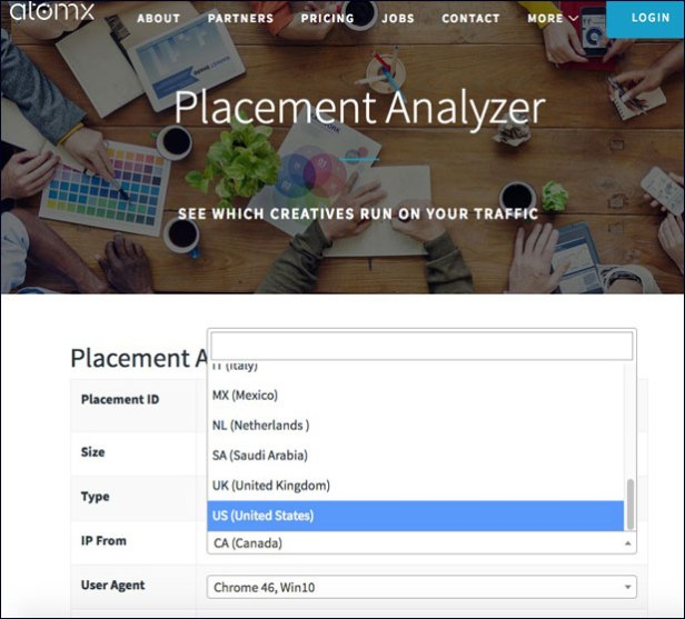 Atomx Placement Analyzer