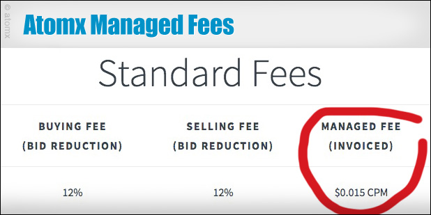 Atomx Managed Fee (Ad Serving Fee)