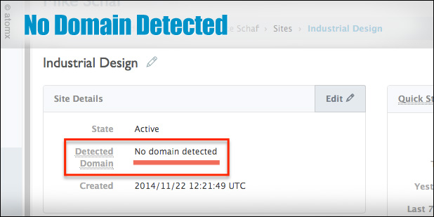 Atomx blog: no domain detected