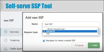 Atomx self-serve SSP Tool