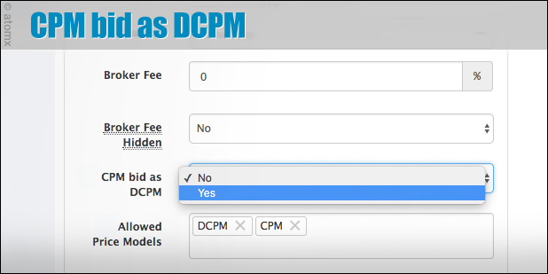 atomx cpm bid as dcpm