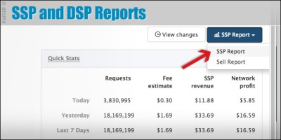 SSP DSP reports