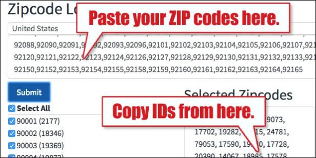 atomx zip code converter