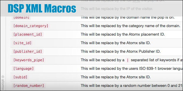 atomx xml macros