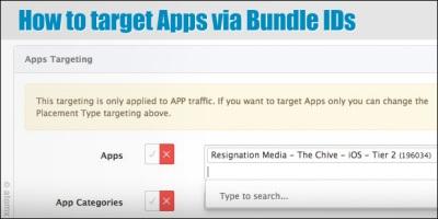 atomx app targeting bundle IDs