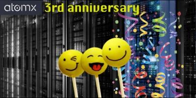 Atomx 3 anniversary